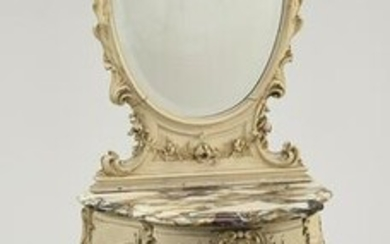 Early 20th c. Rococo style dressing table with mirror