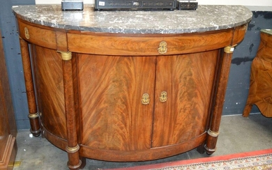Empire period half-moon chest of drawers