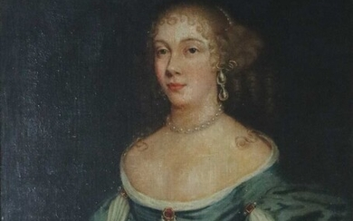 Follower of Sir Peter Lely (1618-1680) Portrait of a Lady Oil on canvas