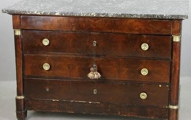 French Empire Style Marble Top Dresser