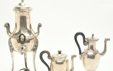 French Neoclassical Silver-Plate Coffee Pot, Hot Water