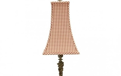 French Rococo Style Candlestick Table Lamp