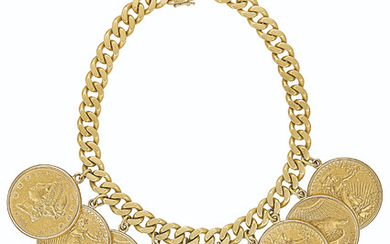GOLD AND COIN NECKLACE,