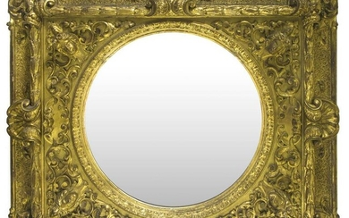 Golden pier glass from the 19th century. Cm 114x135