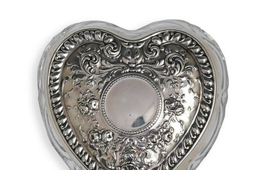 Gorham Glass and Sterling Heart Box