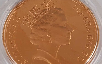 Great Britain, 1985 gold proof five pound coin
