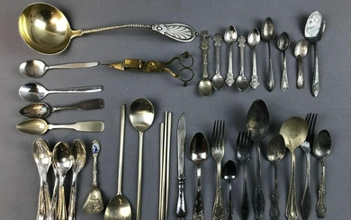 Group of Vintage Flatware - Some Sterling Silver Spoons