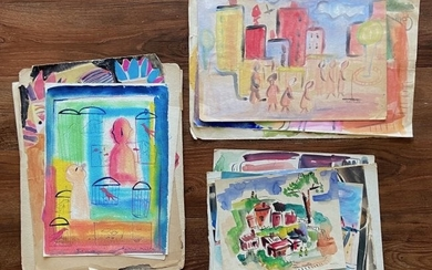HELEN MALTA (b. 1910 American) Lot Of 14 Works On Paper