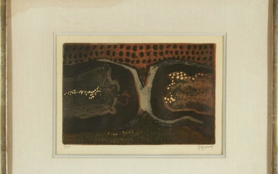 Johnny Friedlaender Abstract Etching and Aquatint