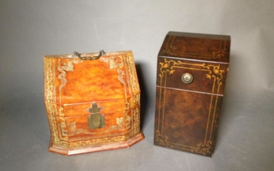 Italian Leather Covered Letter Box & Knife Box