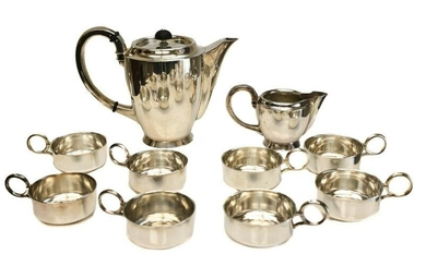 Jakob Grimminger 835 Silver Coffee Service Set for 8
