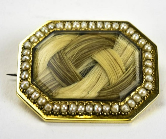 John Haven Family Mourning Brooch w Provenance