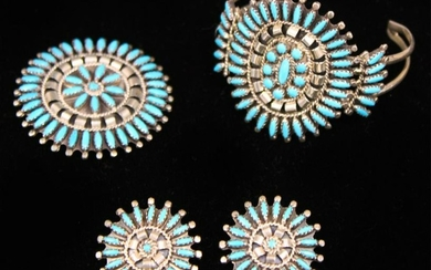 LOT OF (4) SILVER / NATIVE AMERICAN JEWELRY