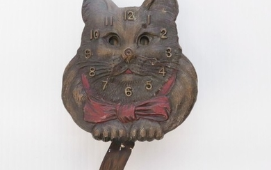LUX FIGURAL CAT CLOCK