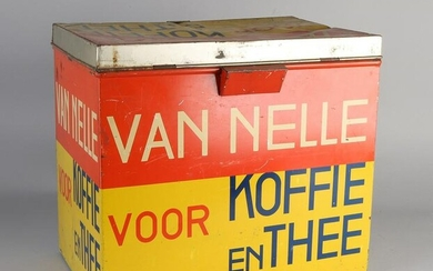 Large old Van Nelle Coffee / Tea grocery store tin.