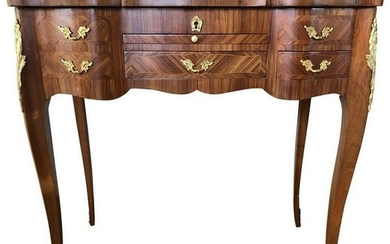 Louis XV Style Inlaid Dressing Table 20th Century