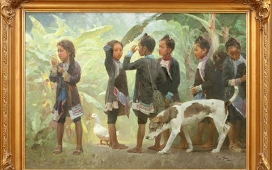 "MIAN SITU OIL ON CANVAS, 2010, ""AFTER SCHOOL"""