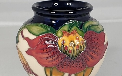 MOORCROFT 7.5cm VASE (Shape No 198/3) IN THE ANNA LILY DESI...