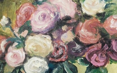 Manner of Renoir: Floral Still Life