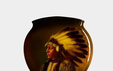 Matthew Daly for Rookwood, Native American portrait