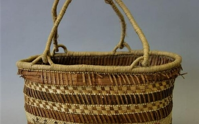Northwest Coast Makah Pictorial Woven Basket