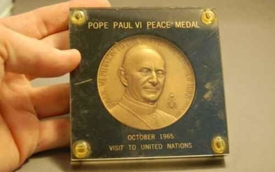 "Old Collector Coin: ""Pope Paul VI Peace Medal"" + 1965 +"