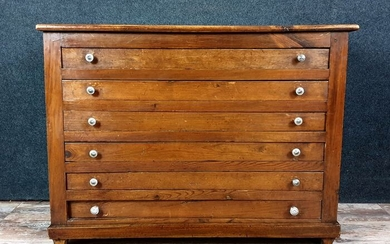 Old collector's furniture in solid softwood - Wood - Mid 19th century