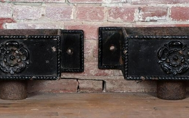 PAIR 19TH CENTURY CAST IRON SCUPPER BOXES
