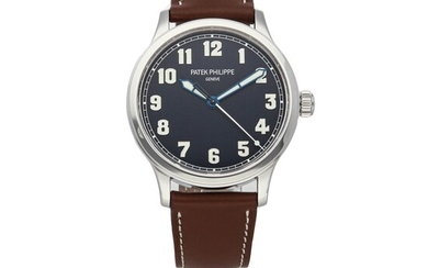PATEK PHILIPPE | PILOT CALATRAVA LE NEW YORK REF 5522A, A LIMITED EDITION STAINLESS STEEL AUTOMATIC CENTER SECONDS WRISTWATCH MADE FOR THE US MARKET CIRCA 2018