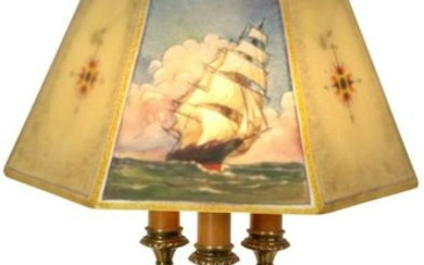 """Pairpoint Nautical """"Directoire"""" Table Lamp"""