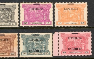 Portugal 1911 - Vasco da Gama on Postage Stamps with Charge from Mainland Complete Series - Mundifil 192-197