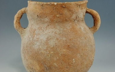 Prehistoric, Bronze Age Terracotta Holy Land Double Handled Vessel - 124×105×0 mm