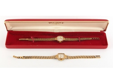 Property of a gentleman - a lady's Rotary 9ct gold cased wri...