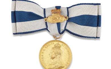 QUEEN VICTORIA, GOLDEN JUBILEE GOLD MEDALLION 1887,