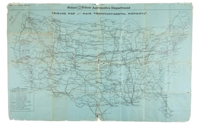 Rare early highway map of U.S. 1923