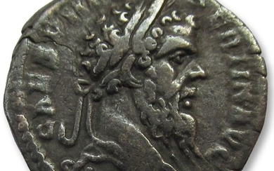 Roman Empire - AR Denarius, Pertinax. Rome 193 A.D. - Emperor for only 3 months in the year of the 5 emperors (R) - Silver