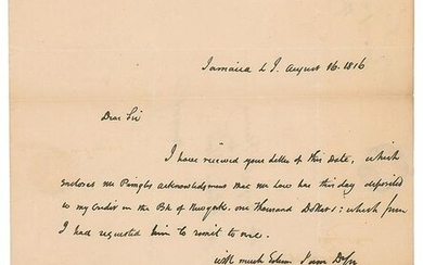 Rufus King Autograph Letter Signed