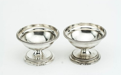 Salt cellar (2) - .925 silver - Joseph Glenny - London - Georgian 1805 - England - Early 19th century