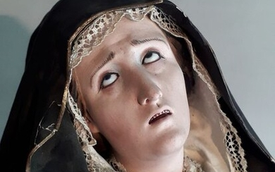 Sculpture, Our Lady of Sorrows - 65 cm - Papier-mache - late '700 early' 800