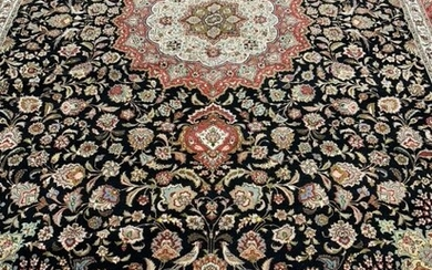 Semi Antique Hand Woven Persian Silk&Wool Tabriz 50 Raj