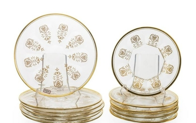 """Set of 12 Baccarat """"Empire"""" plates"""