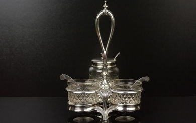 Silver cruet, around 1880. - 13 lot of silver. - Germany - Second half 19th century
