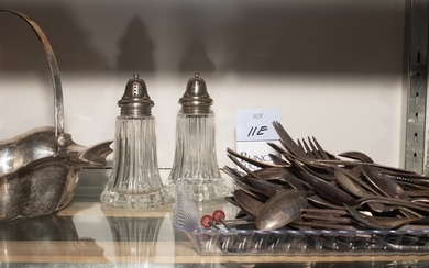Silverplate Flatware, Shakers and Scent Bottles