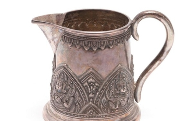 Southeast Asian Silver Repousse Pitcher