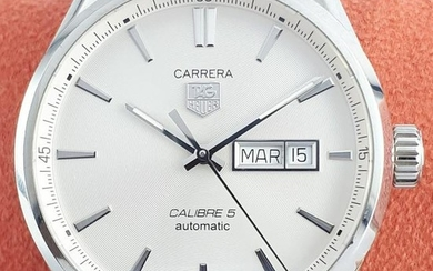 TAG Heuer - Carrera Calibre 5 Day-Date Automatic Silver