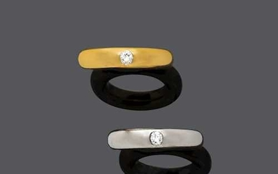 TWO DIAMOND AND GOLD RINGS.