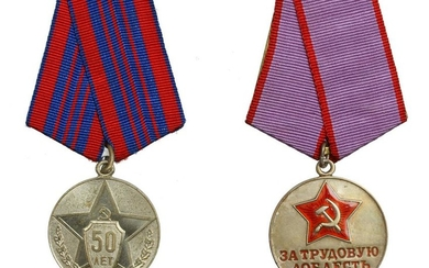 TWO SOVIET RUSSIAN MEDALS
