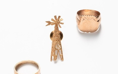 Three Pieces of 14kt Gold Jewelry