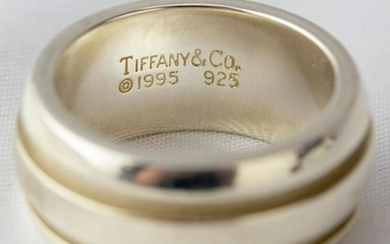 Tiffany & Co. Sterling Silver 9mm Band Ring S5 3/4