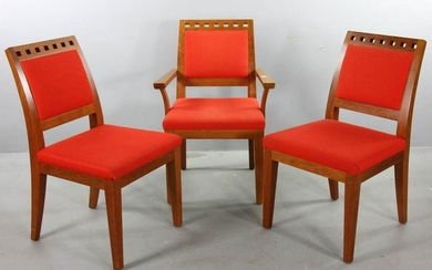 Two Side Chairs and One Armchair